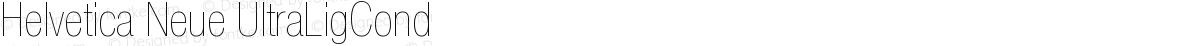 Helvetica Neue UltraLigCond