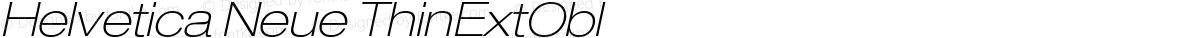 Helvetica Neue ThinExtObl