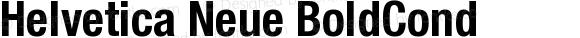 Helvetica Neue BoldCond