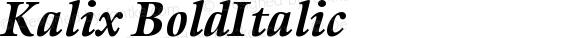 Kalix BoldItalic