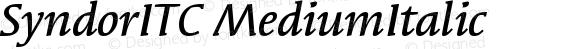 Syndor ITC Medium Italic