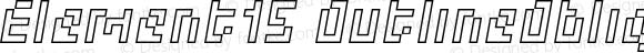 Element15 OutlineOblique