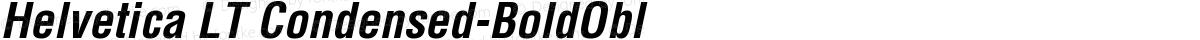 Helvetica LT Condensed-BoldObl