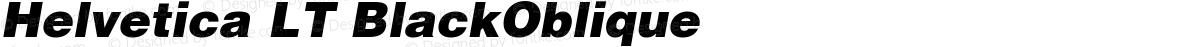 Helvetica LT BlackOblique