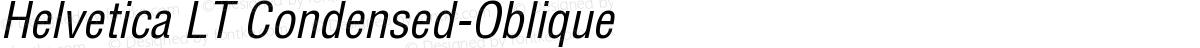 Helvetica LT Condensed-Oblique