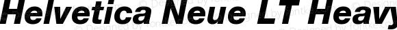 Helvetica Neue LT HeavyItalic