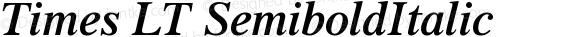 Times LT SemiboldItalic Version 006.000
