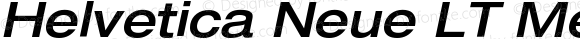 Helvetica Neue LT MediumExtObl