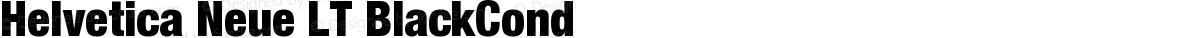 Helvetica Neue LT BlackCond