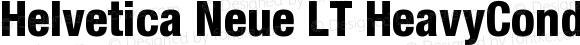 Helvetica Neue LT HeavyCond