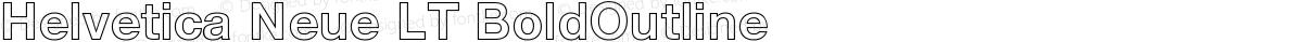 Helvetica Neue LT BoldOutline
