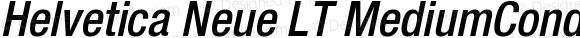 Helvetica Neue LT MediumCondObl