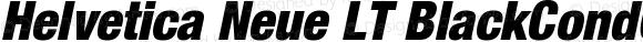 Helvetica Neue LT BlackCondObl