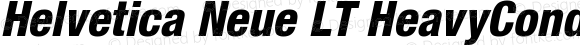 Helvetica Neue LT HeavyCondObl