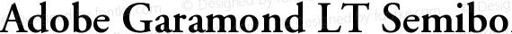 Adobe Garamond LT Semibold preview image