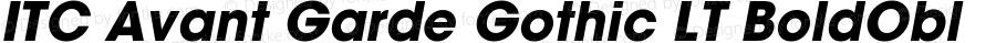 ITC Avant Garde Gothic LT Bold Oblique