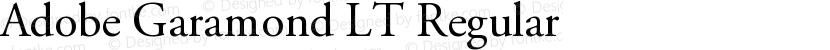 Adobe Garamond LT Regular Preview Image