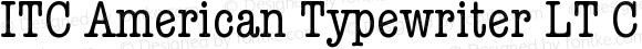 ITC American Typewriter LT CondA Version 006.000