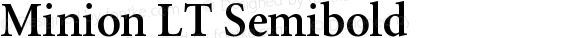 Minion LT Semibold