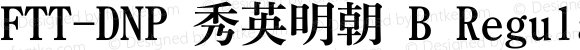 FTT-DNP 秀英明朝 B