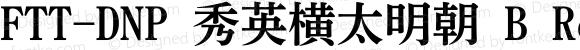 FTT-DNP 秀英横太明朝 B
