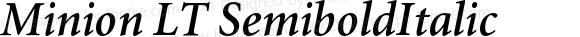 Minion LT SemiboldItalic