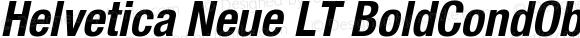 Helvetica Neue LT BoldCondObl