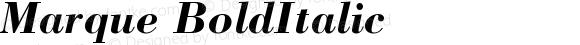 Marque Bold Italic