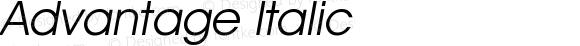 Advantage Italic
