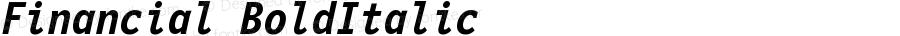 Financial Bold Italic