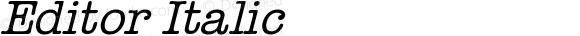 Editor Italic