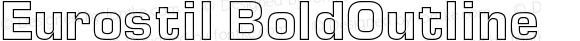 Eurostil BoldOutline