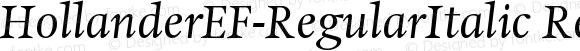 HollanderEF-RegularItalic RegularItalic