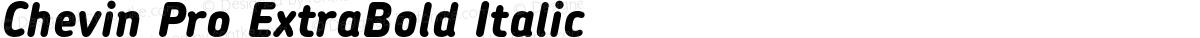 Chevin Pro ExtraBold Italic