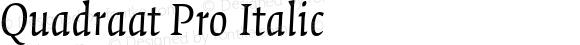 Quadraat Pro Italic