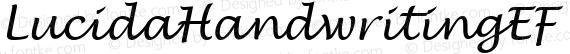LucidaHandwritingEF Regular preview image