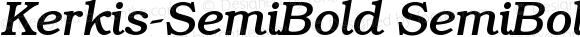 Kerkis-SemiBold SemiBold-Italic