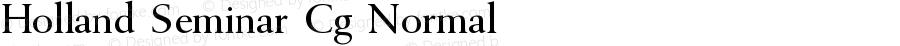Holland Seminar Cg Normal Version 001.001