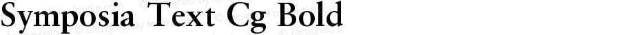 Symposia Text Cg Bold Version 001.001
