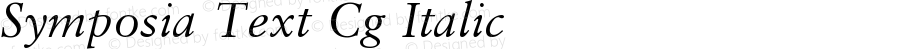 Symposia Text Cg Italic Version 001.001