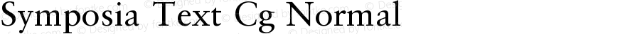 Symposia Text Cg Normal Version 001.001