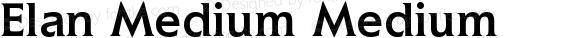 Elan Medium Medium Version 1.0