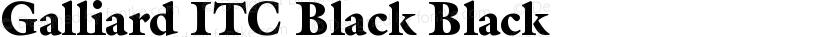 Galliard ITC Black Black Preview Image