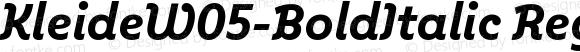 KleideW05-BoldItalic
