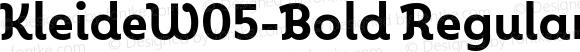 KleideW05-Bold