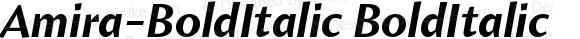 Amira-BoldItalic BoldItalic Version 001.000