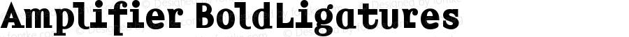 Amplifier BoldLigatures Version 001.000