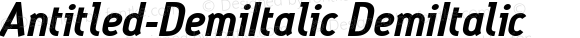 Antitled-DemiItalic DemiItalic Version 001.000