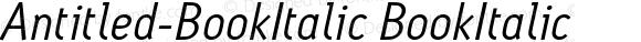Antitled-BookItalic BookItalic Version 001.000