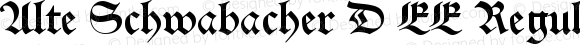 Alte Schwabacher D EE Regular Version 001.004